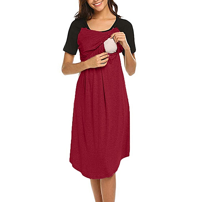 d3fceeabe7503 Women's Maternity Dress Nursing Nightgown Breastfeeding Nightshirt Sleepwear