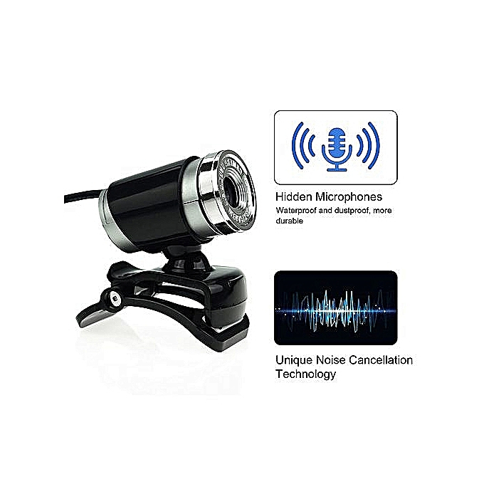 Web Cam USB Microphone Webcam HD 12 Megapixel PC Camera With Absorption MIC  For Skype For Android TV Rotatable Computer Camera