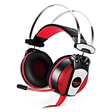KOTION EACH GS500 Gaming Headsets Headphones with LED Light Microphone Noise Canceling for PS4 / PC / Mobile Phone - RED