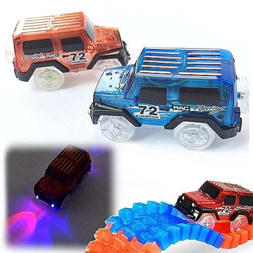 Electronics Car For Magic Track Toys With Flashing Lights Boys Educational Toy