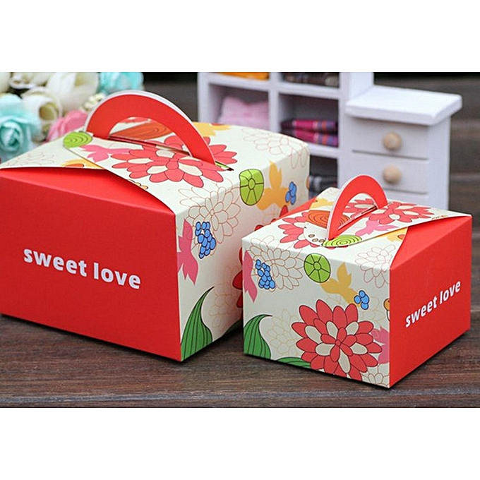 Buy Generic 10PCs 6.5CM Small Red Sweet Love Wedding Favor Box ...