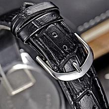 guoaivo SBAO Fashion Retro Calendar Couple High-grade Business Belt Watch - black