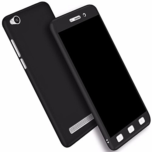 size 40 4c9af 37cb0 FrescoOne for XiaoMi Redmi 4A 360 Degree Protection Matte Case Cover Casing  295096 (Black)