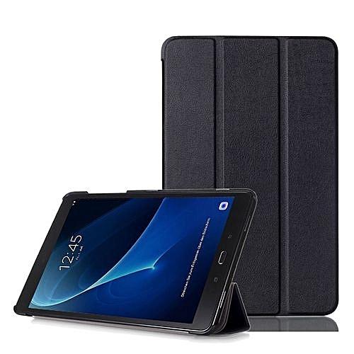 Slim Leather Case Cover  For Samsung Galaxy Tab A 10.1 (2016) SM-T580N-T585N BK