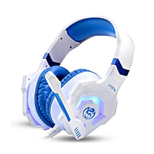 Cosonic Vots 3.5mm USB Stereo Bass Gaming Headphones Noise Cancelling Gamer Headsets With Microphone LED Light For PC Laptop Game BDZ Mall
