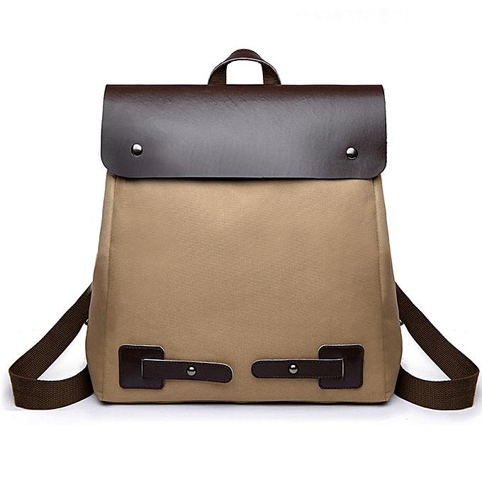 6cf1b4fa6 Meibaol Store Vintage Women Student Patchwork Canvas Shoulder Bag School Bag  Tote Backpack-Brown