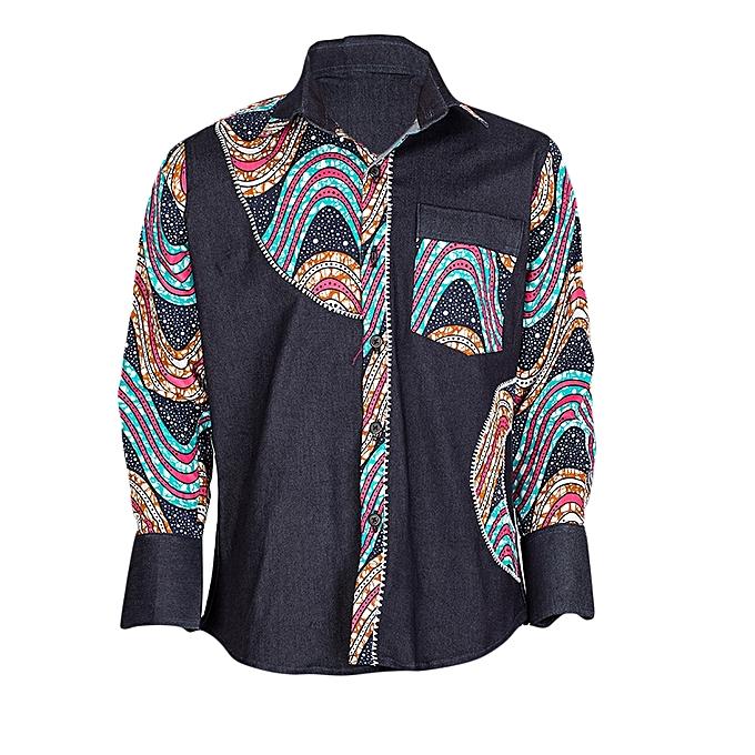 buy bintu creations blue african design kitenge shirt best price
