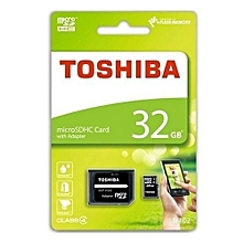 Micro SD Memory Card TF With Adapter - 32GB - Black