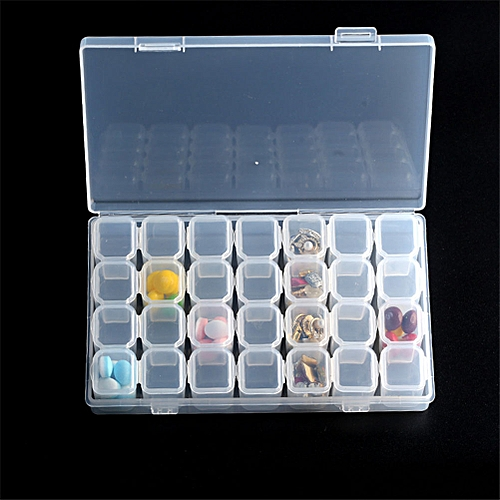 28 Lattices Dismountable Storage Box For Diamond Embroidery Accessories Cross  Stitch Cases Home Storage Organizer Style