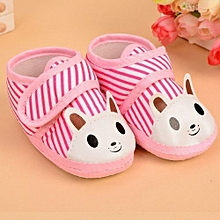 Refined Soft Antiskid Indoor Baby Boy Shoes 0-1 Year Old Printing Animal Shoes Baby Girl Shoes-Pink
