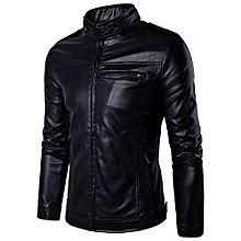 100% Leather Spring Men's Genuine Leather Plus Size Jackets Real Sheepskin Black Male Genuine Leather Jacket For Men -black