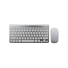 2.4G Wireless Mini Keyboard Mouse Kit For Computer - Silver