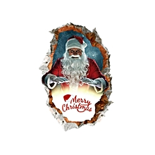 3D Christmas Wall Sticker, Removable Wall Decals / Wall Mural Colorful Christmas Santa Claus Reindeer Environmental Protection PVC Sticker Stereoscopic Wall Decals Sticker Home Wall Decor Gifts