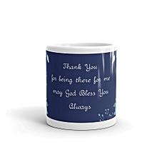 Thank you mug - plain white ceramic mug 11oz