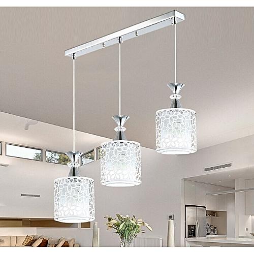 Modern Flower Petal Ceiling Light LED Pendant Lamp Dining Chandelier Room  Decor 3 Lights Round