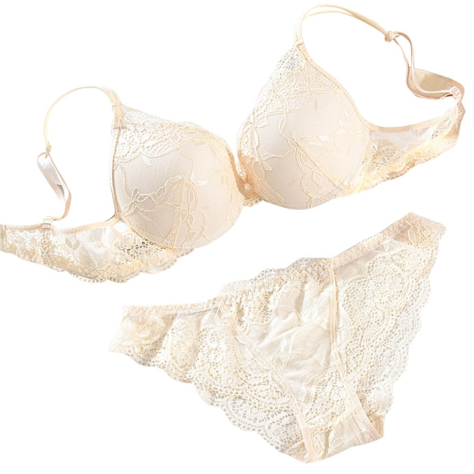 51d65d337b4 Generic Women Push Up Lace Padded Bra Set Embroidery Underwear A1