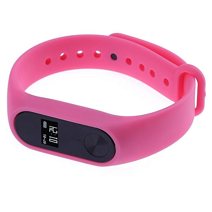 M2 Smart Wristband Sports Bracelet Pedometer Heart Rate Monitor (Pink) XD-SS