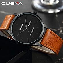 Men's Quartz Watches Luxury Brand Waterproof Men's Watch Men's Watches Men's Leather Strap -Brown, Black