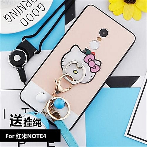 separation shoes 9d9ed 53de5 Cute Cartoon Stitch Case For Xiaomi Redmi Note 4/NOTE4X 64GB 5.5 Inch With  Stand Ring Holder Back Phone Cover+Strap Bell Accessories(Multicolor-7)