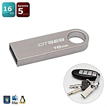Kingston Digital Data Traveler SE9 16GB USB 2.0 Flash Drives - Silver