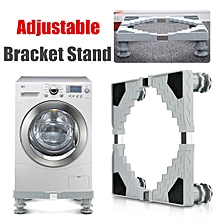 Adjustable Washing Machine Base Refrigerator Undercarriage Bracket Stand