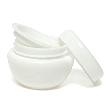 Empty Jar Pot Cosmetic Cream Bottle Container Screw Lid With Inner Lid 10ML White