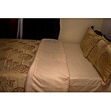 Satin 6piece 6x6 -duvetcover sets(1 duvetcover,1 bedsheets, 4 pillowcases)