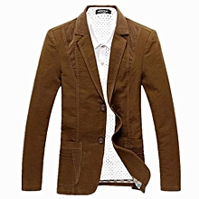 Nice Men's NEW Spring Casual Jacket Men's Clothing Blazers Top Suit Jacket-coffee