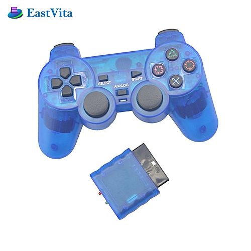 Transparent Wireless Gamepad for Sony PS2 Controller for Playstation 2  Console Joystick Double Vibration Shock Joypad DNSHOP