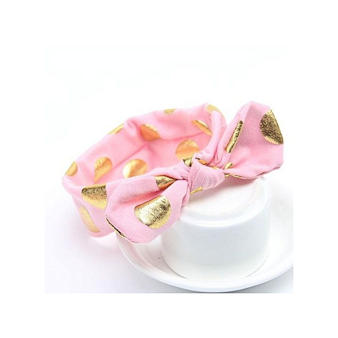 90d6810e5ef Braveayong Girls Gilding Headbands Bowknot Hair Accessories For Girls  Infant Hair Band PK - Pink ...