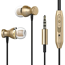 GuoaivoFor IPhone For Samsung 3.5mm In-Ear Stereo Earbuds Earphone Headset MIC GD -Gold