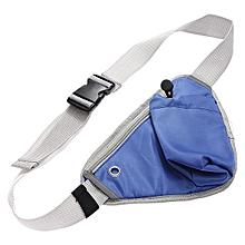 10PCS Sports Fanny Pack Cycling Waist Belt Bag(dark blue)