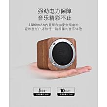 ( Colour:Dark Brown)New Design Wooden HIFI Wireless Bluetooth Speaker