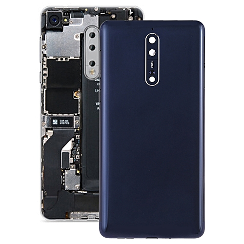 finest selection 9441e f845a Battery Back Cover with Camera Lens & Side Keys for Nokia 8(Blue)