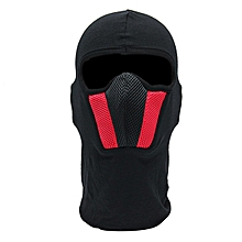 Men's Motorcycle Face Mask Outdoor Motorcy Helmet Hood Ski Sport Neck Face Mask Windproof Dustproof Red And Gray (Red)