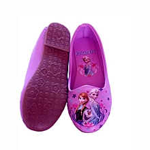 Frozen cartoon themed doll shoes for girls - purple
