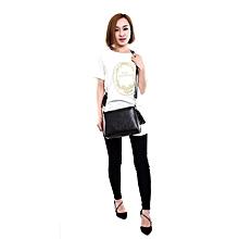 bluerdream-Women Tassel Leather Bag Crossbody Shoulder Messenger Bags-Black