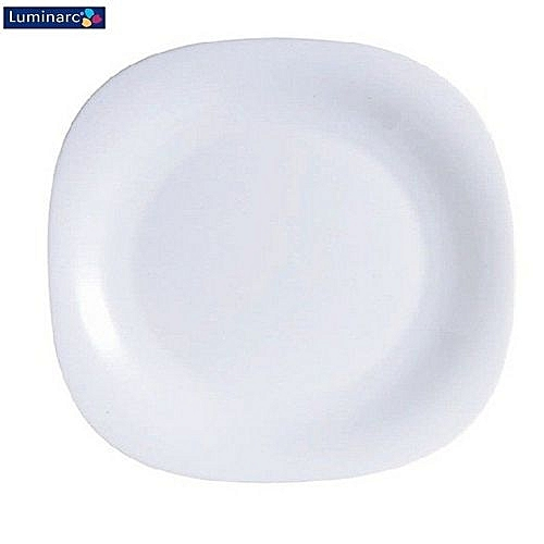 Dinner Plates 6 Pieces + FREE 12 Tablespoons - White