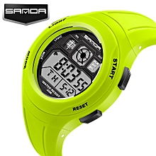 Green Students Wristwatch with Alarm Date Chronograph LED Back Light Waterproof Sports watch