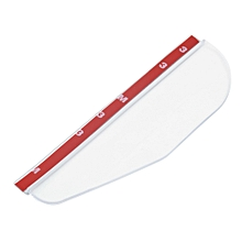 Rear Mirror Rain Board Eyebrow Visor Shade Shield Water Guard For Car Truck - White