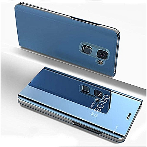 promo code 63521 83d62 Samsung Galaxy J6(2018) Leather Case, Pu Leather Flip Case Cover For  Samsung Galaxy J6(2018) With Stand Function And Plating Mirror - Blue.