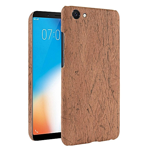 timeless design 0ffdd 6d514 Vivo Y71 Case, [wood Texture] PU Leather + Hard PC Protective Case Cover  for Vivo Y71