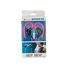Sports Ear-Hook Earphones - pink