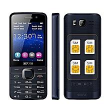 SERVO V9500 2.8 Inch HD Large Screen 1100mAh 64MB+64MB 4 Sim Cards 4 Standby FM GPRS Feature Phone
