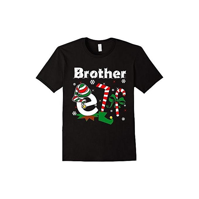 d03509d6 Fashion Men's T-Shirt Brother ELF Funny Christmas T-Shirt Santa Christmas  Shirt Men