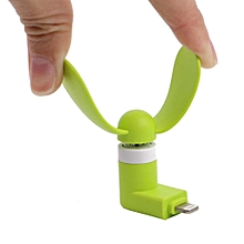 Mini Portable Cooling Fan Ventilator Electronic Gadget PC Cooler For Iphone8 7 6s 6 5s 5 Ipad Green