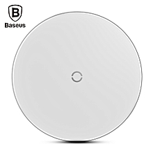 Baseus BSWC - P10 Simple Wireless Charger Aluminium Alloy Glass 10W-WHITE