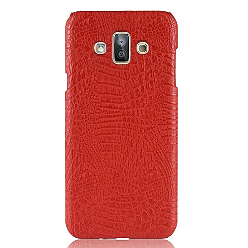 best cheap a670b 2cafd For Samsung Galaxy J7 Duo Case Luxury Crocodile Leather Skin SLIM  Protective Hard Cases
