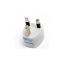 Universal Travel Europe US USA To UK Power Adapter Converter Outlet Wall Plug Socket Portable 3 Round Socket Input Pin