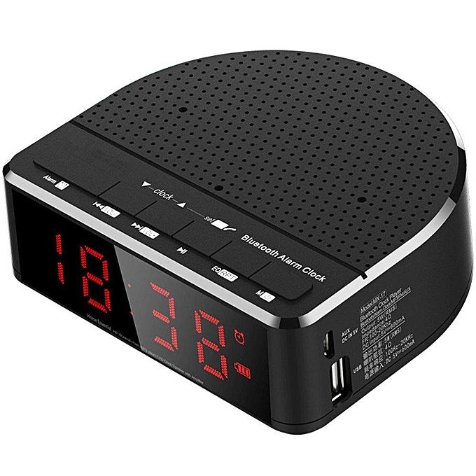 c118958a6c1 Generic Digital Alarm Clock Radio with Bluetooth Speaker